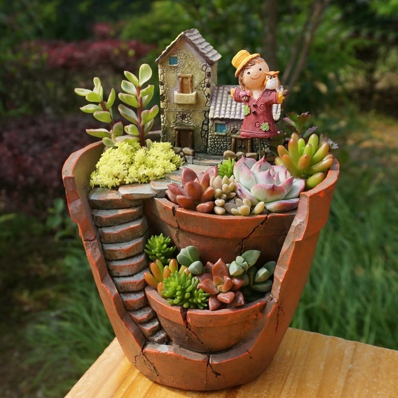 Fairy Garden Flower Pot Febiya